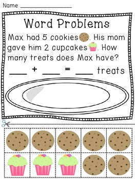 addition word problems hands on activity worksheets first grade math addition words math. Black Bedroom Furniture Sets. Home Design Ideas