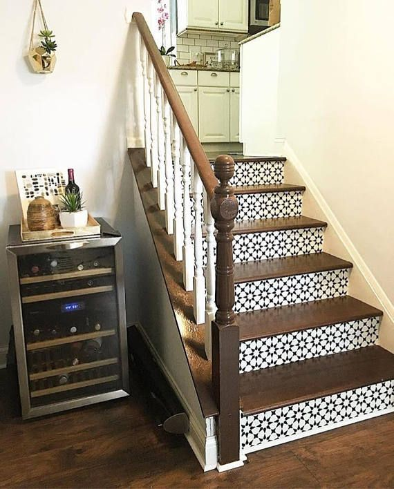 Classicism Stair Riser Vinyl Strips Removable Sticker Peel Flooring For Stairs Home Staircase Design