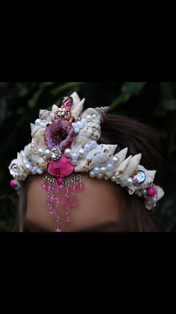 Couronne de sirène caverne cristal par chelseasflowercrowns sur Etsy