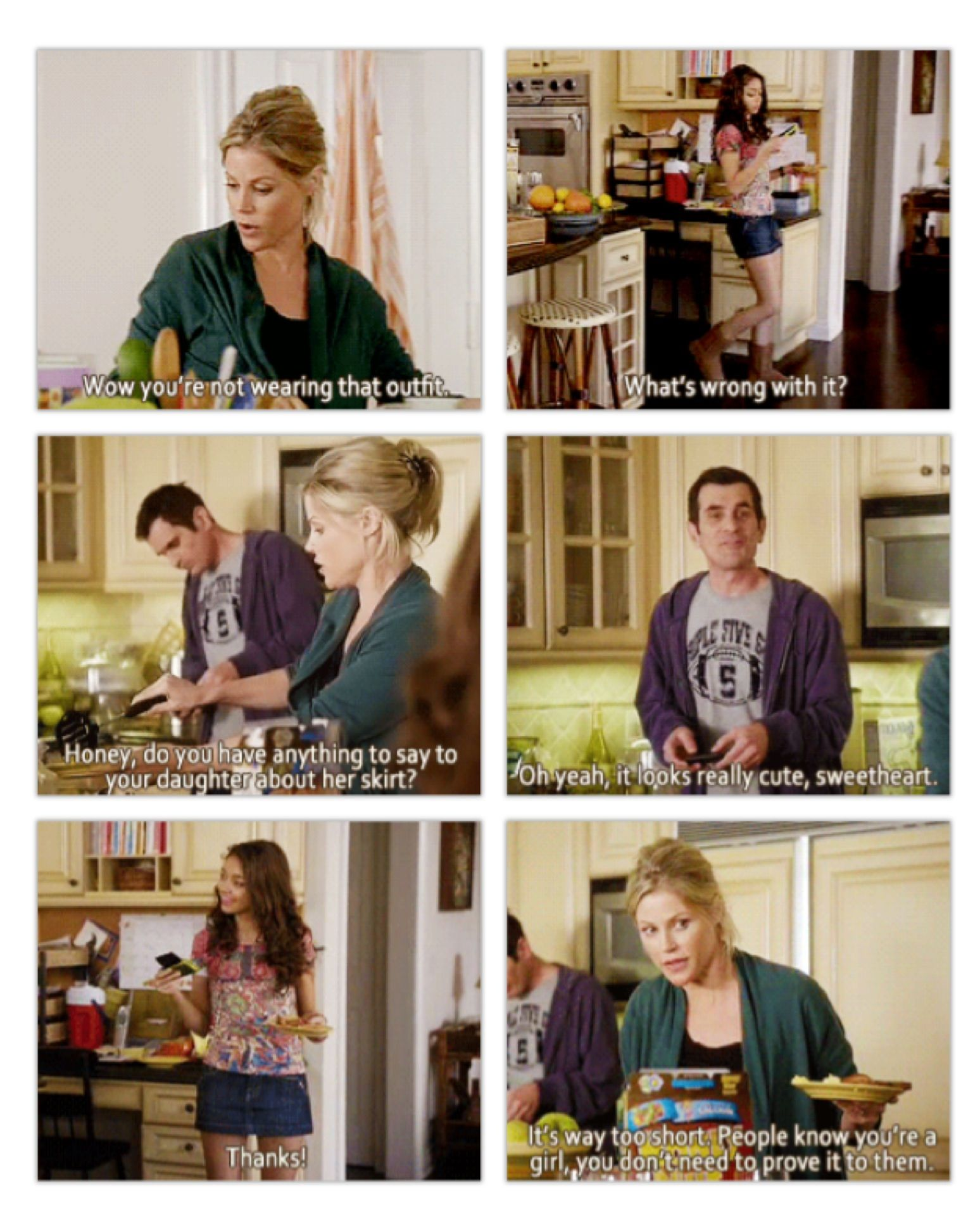 People Know You Re A Girl You Don T Have To Prove It To Them Sounds Like Something I Would T Modern Family Funny Modern Family Tv Show Modern Family Quotes