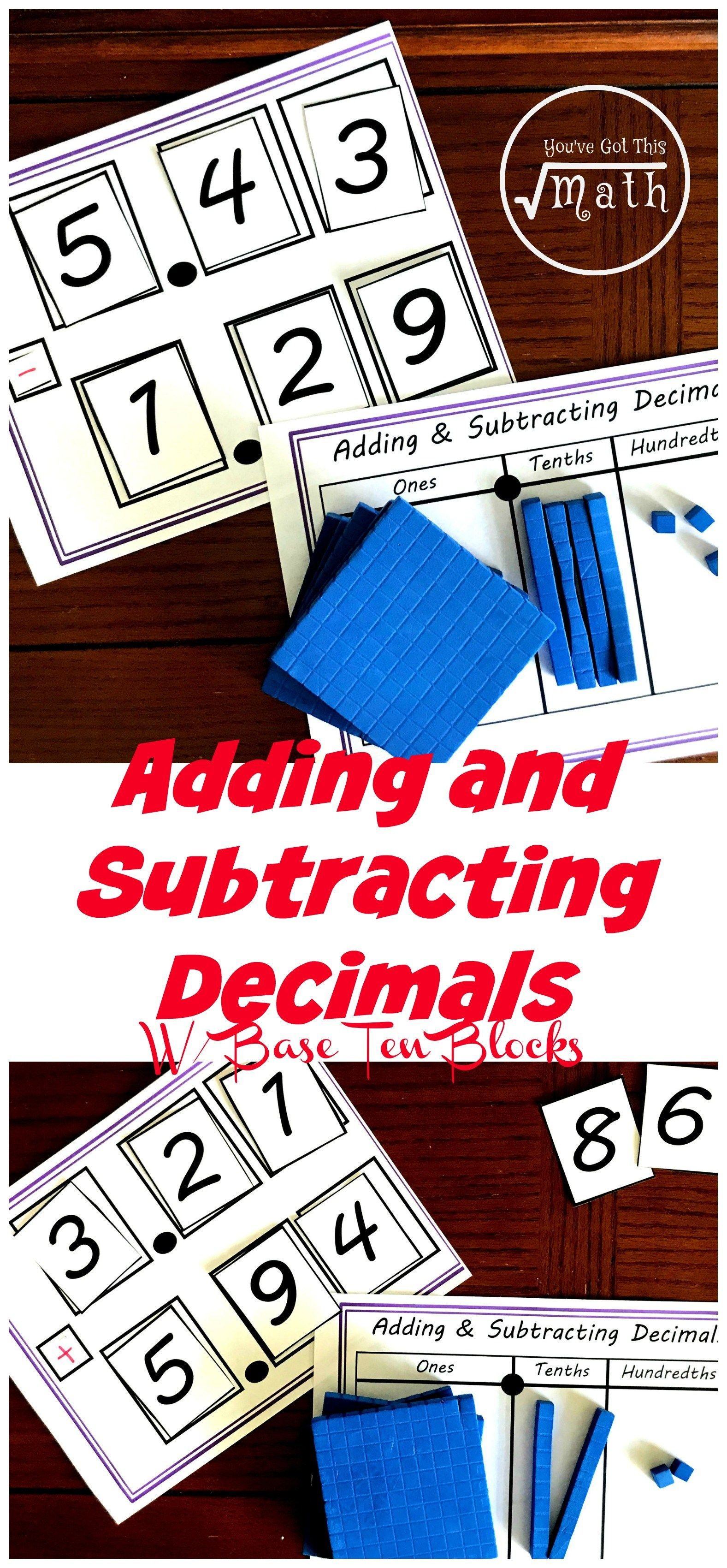 Practice Addition And Subtraction Of Decimals With This