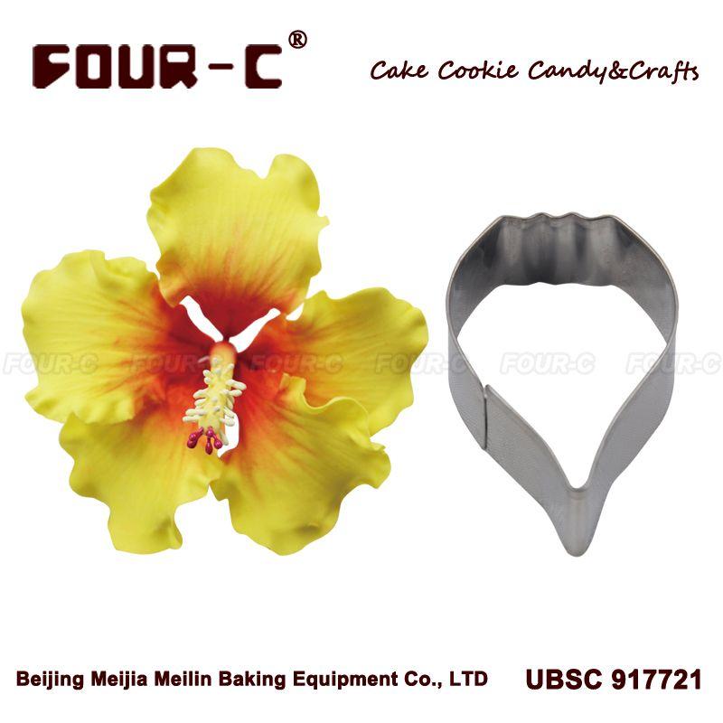 Hibiscus Petal Flower Cutter Cake Decorating Tools Fondant Mold