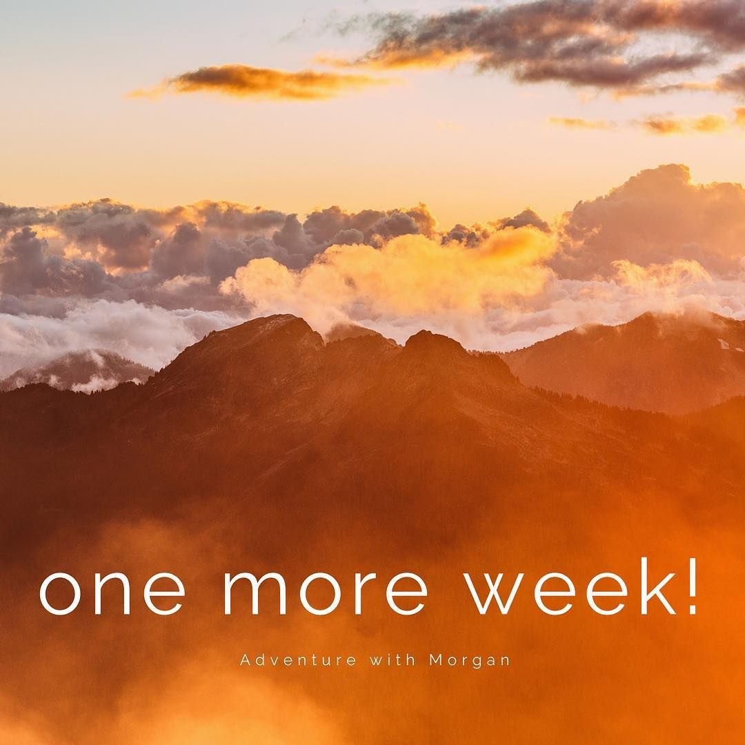 One more week until the blog launch! I have a pretty cool adventure planned for the launch so stay tuned to find out  what I get up to! I will drop some hints in the next few days! 🇨🇦❤️🗻 #letsgoonanadventure #blogger #may3 #staytuned #letsgoonanadventure