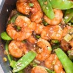 Healthy shrimp stir fry recipe with snow peas | Currytrail