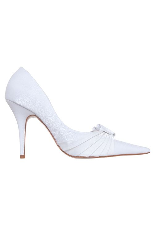 Scarpin Noiva Laço Branco - Compre Agora - Laura Porto