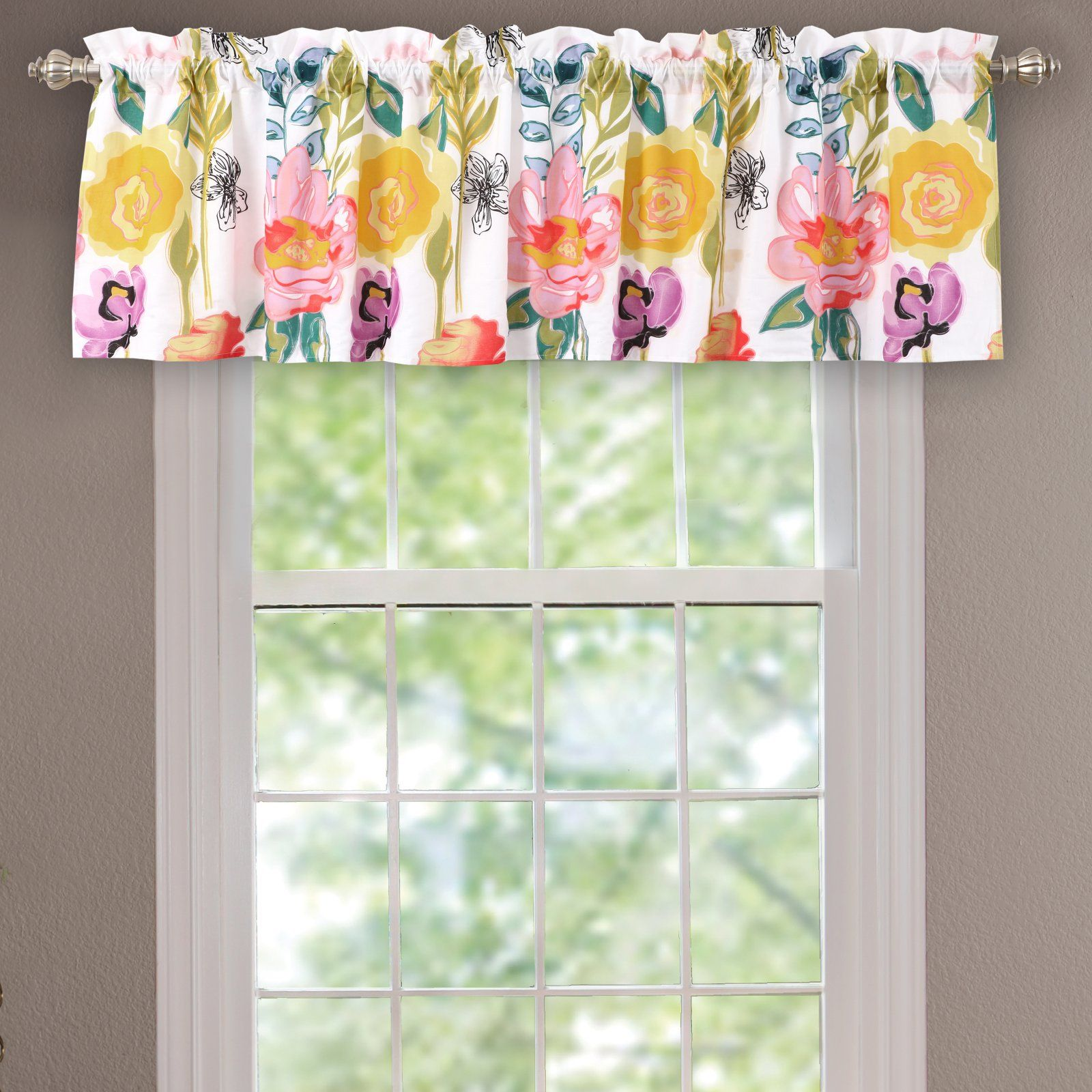 Greenland Home Fashions Watercolor Dream Window Valance With