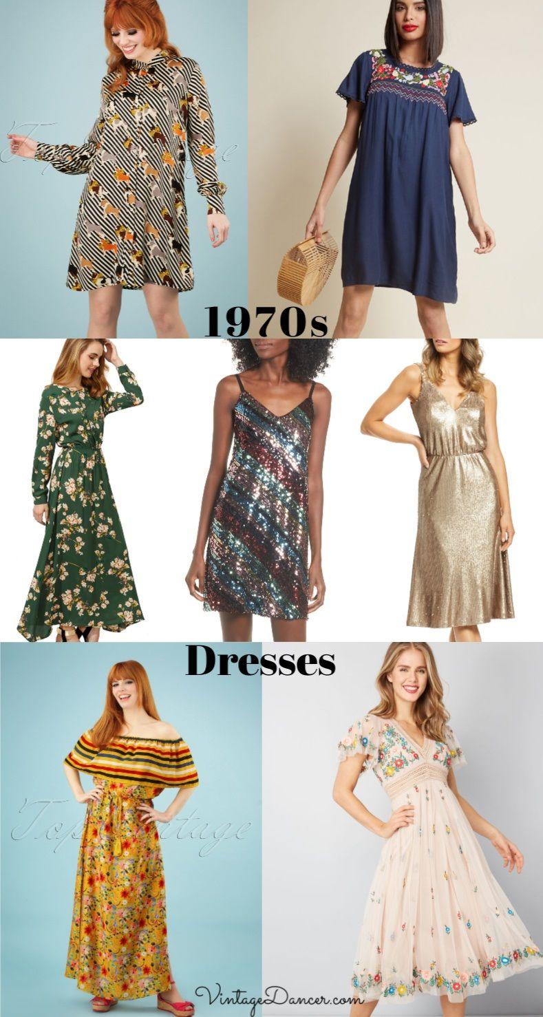 1970s Dresses 70s Dresses 1970s Outfits Ideas At Vintagedancer Com 70s Dress Disco Dress 1970s Outfits [ 1478 x 789 Pixel ]