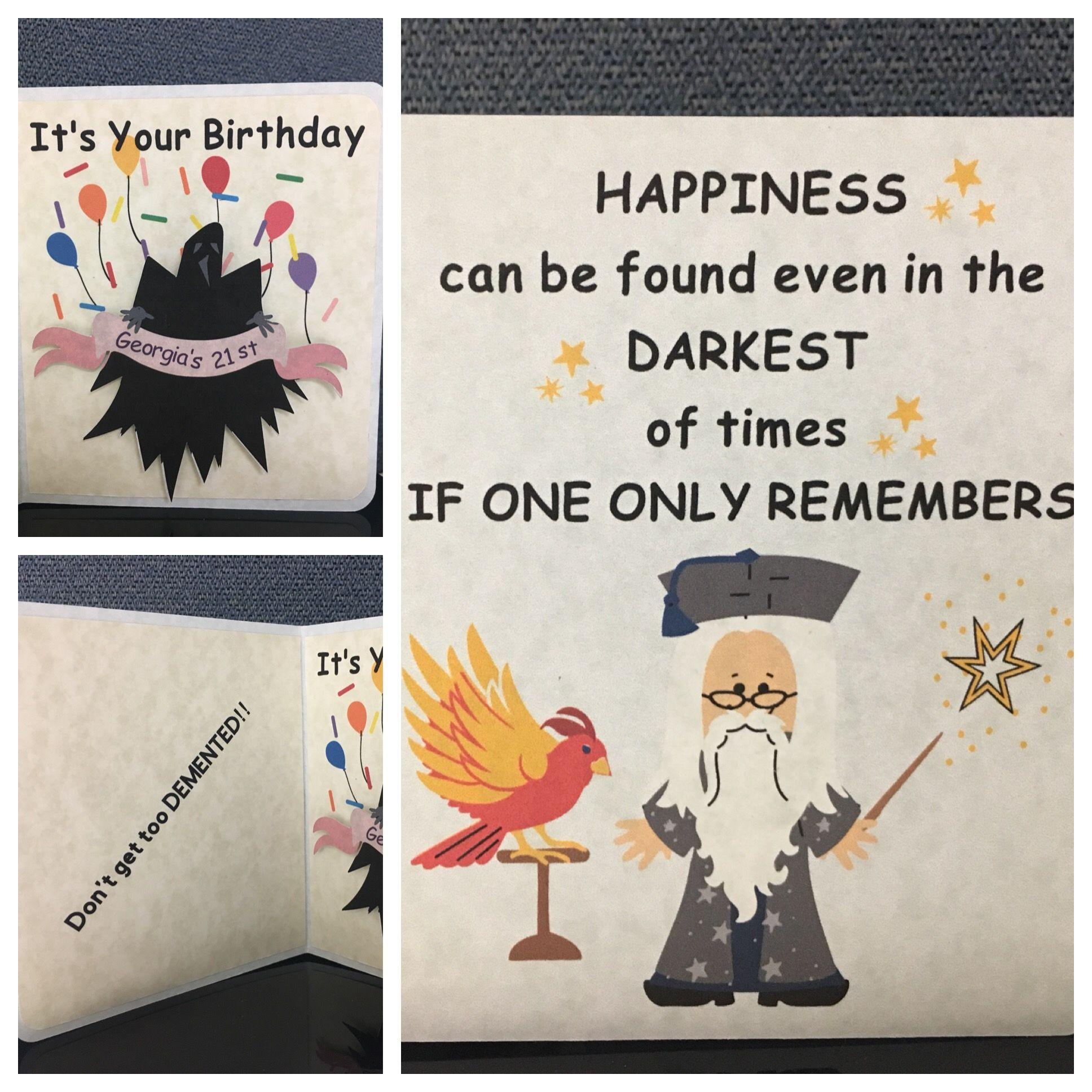 Harry Potter Birthday Card Diy Harry Potter Birthday Cards Harry Potter Birthday Birthday Cards Diy