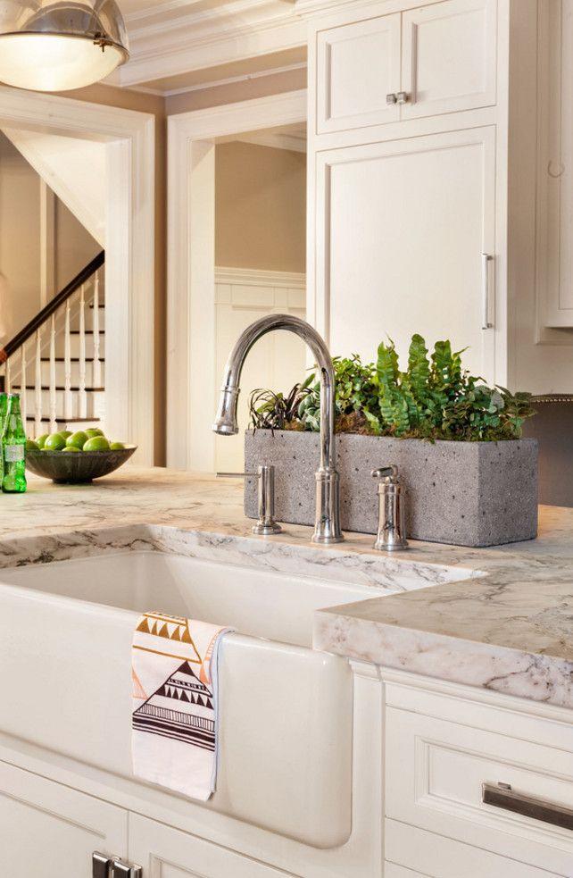 kitchen island sink apron sink island countertop is white arabesque honed marble kitchen on kitchen island ideas white quartz id=28036