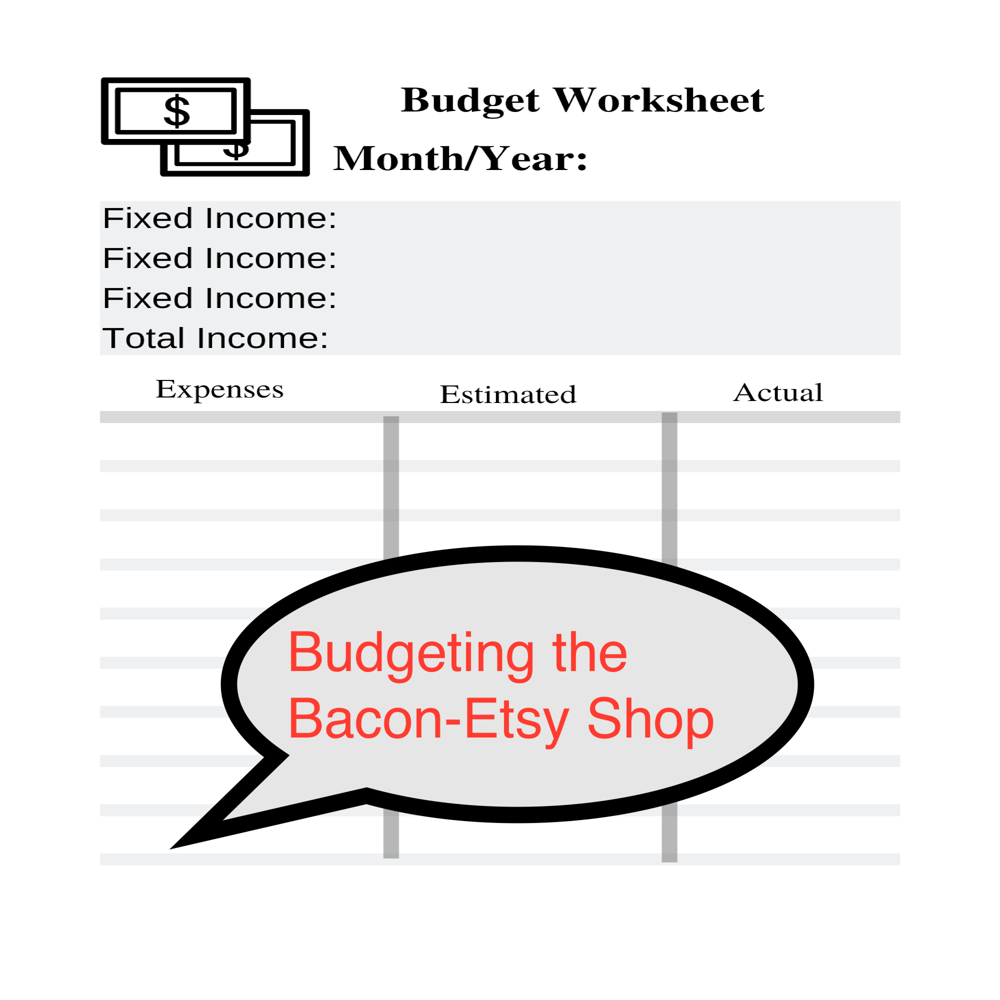 Budgeting Worksheets Planner Income Sinking Funds Debt