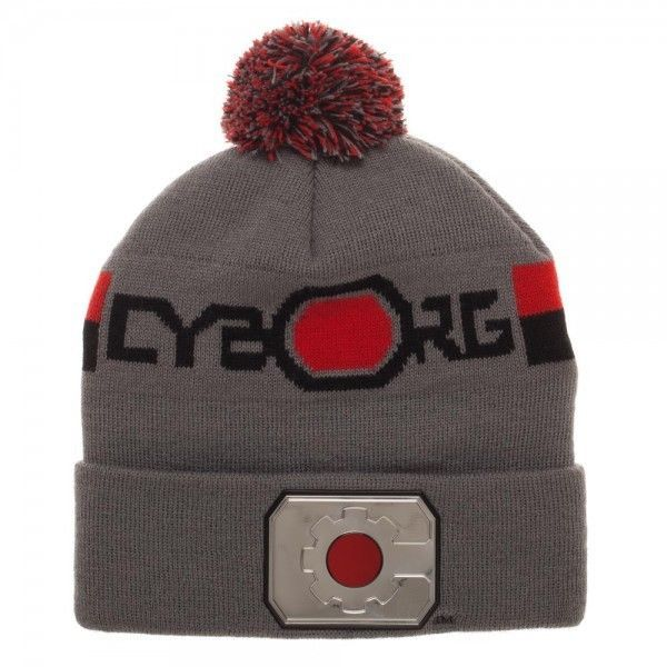 fd3c24fa210 Cyborg Justice League Warm Winter Beanie Hat Cap Cuff Pom DC Comics Chrome  Weld  Bioworld  Beanie