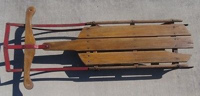 A Vintage Snow Sled For Display