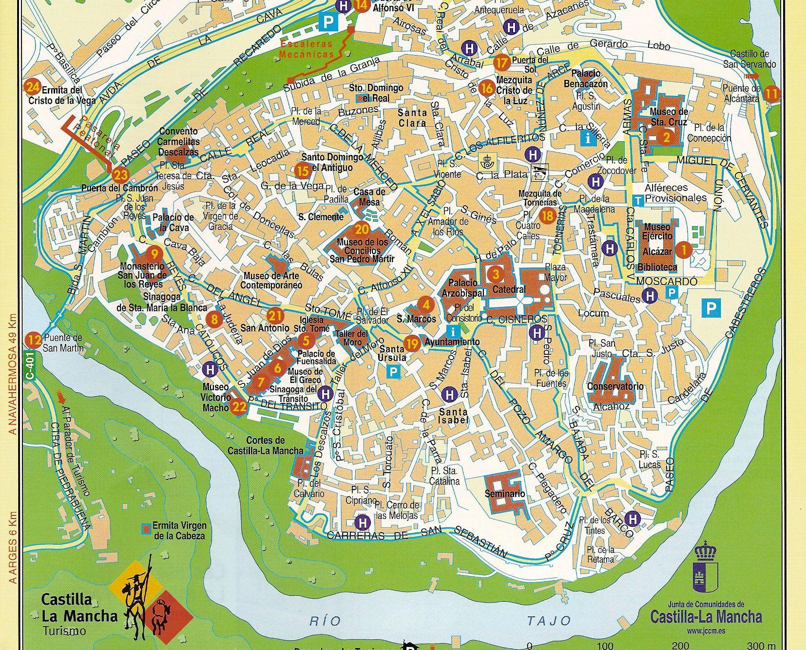 Toledo Mapa Turistico Buscar Con Google Mapa Turistico Mapa