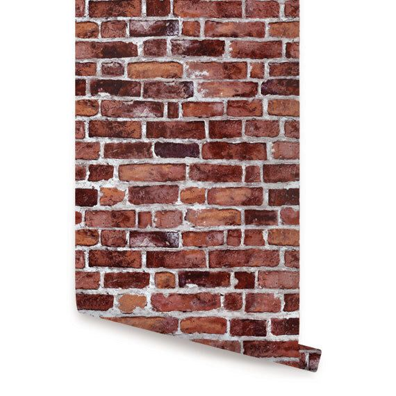 Pin By Mallory Payne On Wall Decor Brick Wallpaper Peel