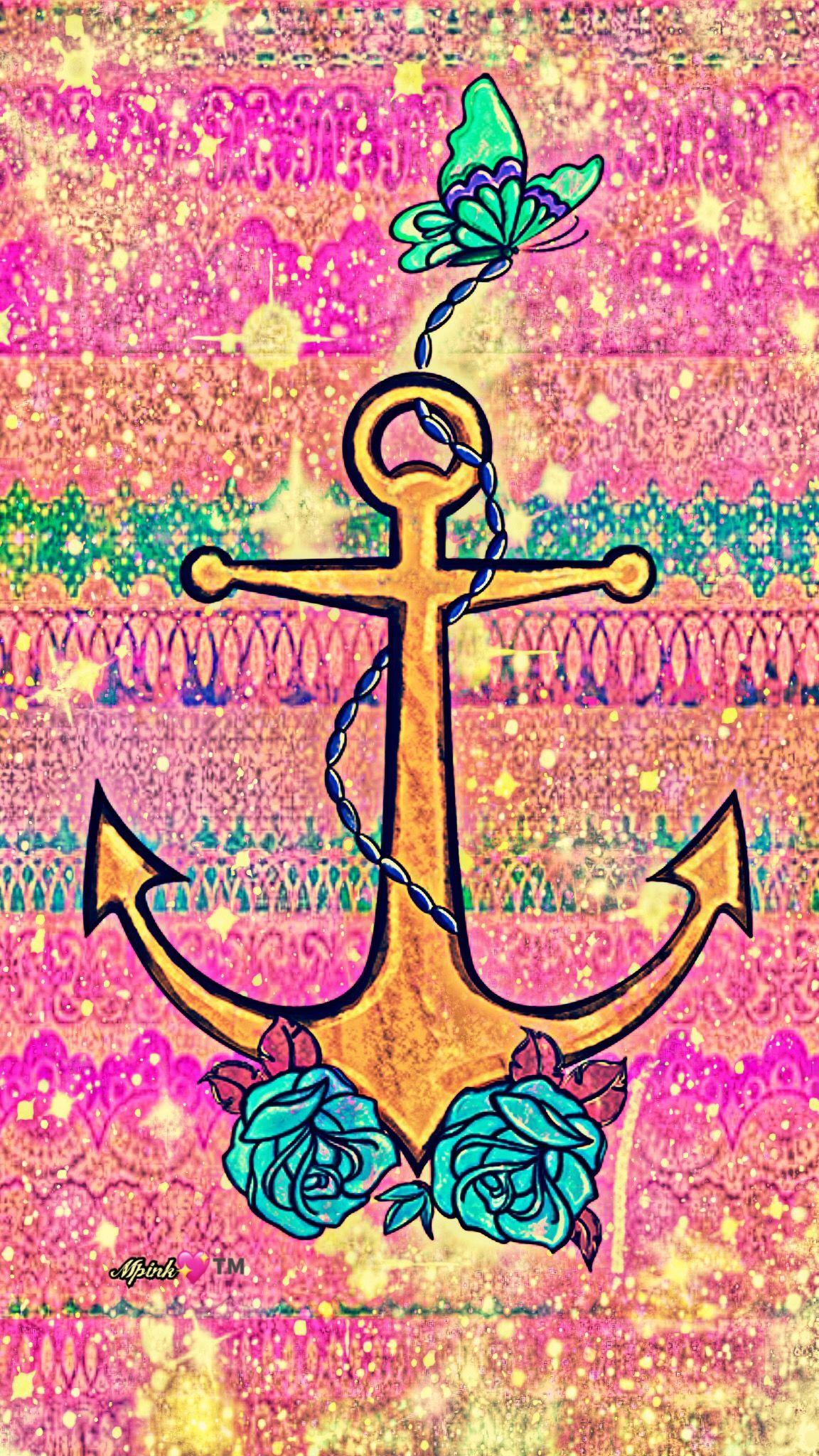 Cute Anchor Background Anchor Wallpaper Wallpaper Iphone Cute Nautical Wallpaper