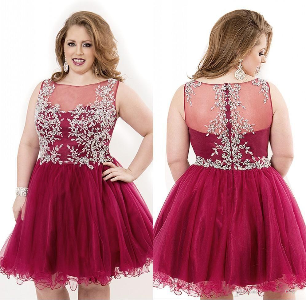 Cheap Plus Size Short Homecoming Dresses 2015   Best Dresses 2019