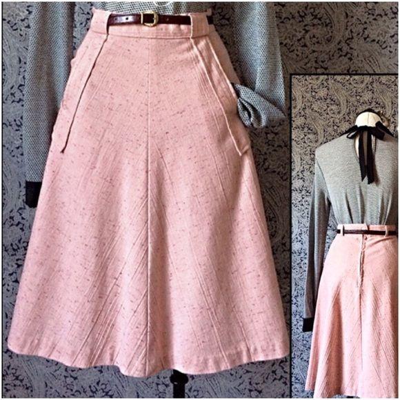 Vintage A line Skirt Vintage A Line Skirt This girly peachy
