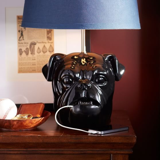 Underbite Bulldog Lamp Base | PBteen | Kid Rooms | Pinterest ...