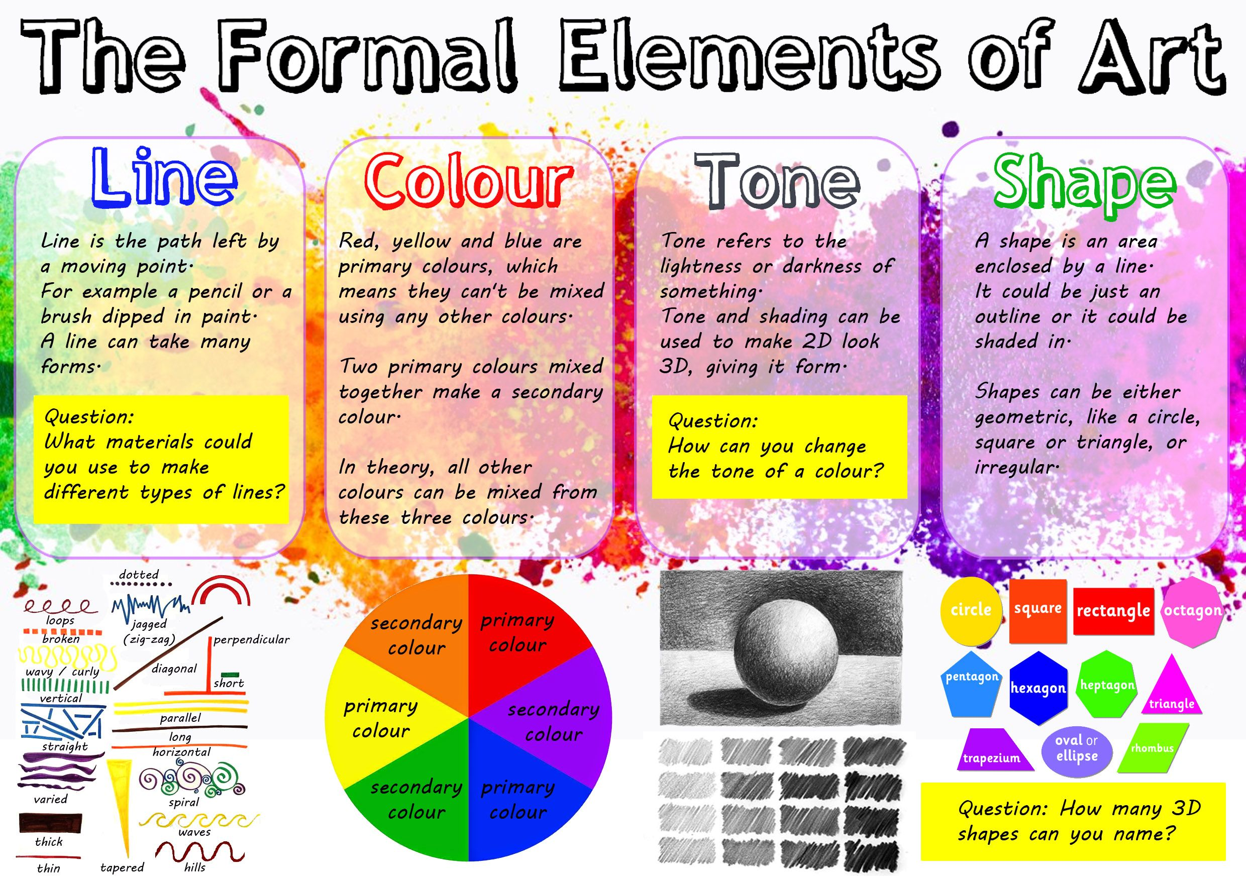 Art Formal Elements Worksheet 1