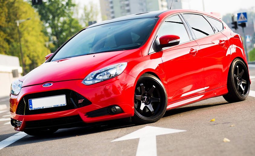 Red Ford Focus St Mk3 Ford Focus Ford Motor Ford Motor Company