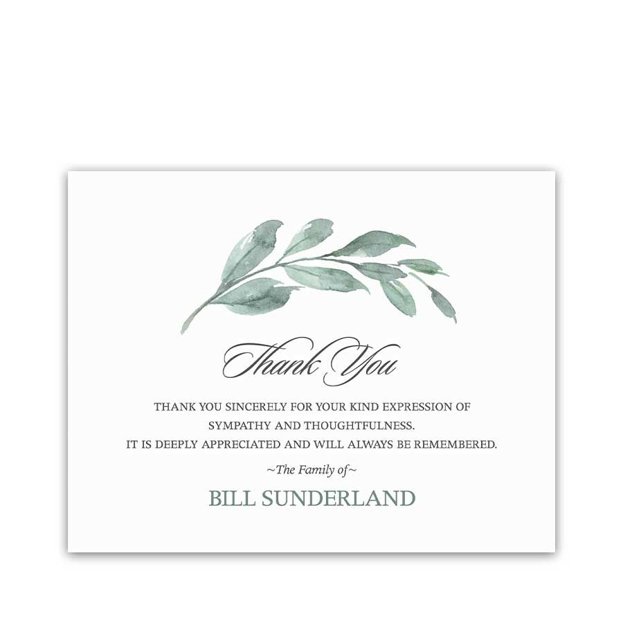 Funeral Thank You Card Digital Template Funeral Thank You Cards Funeral Thank You Funeral Thank You Notes