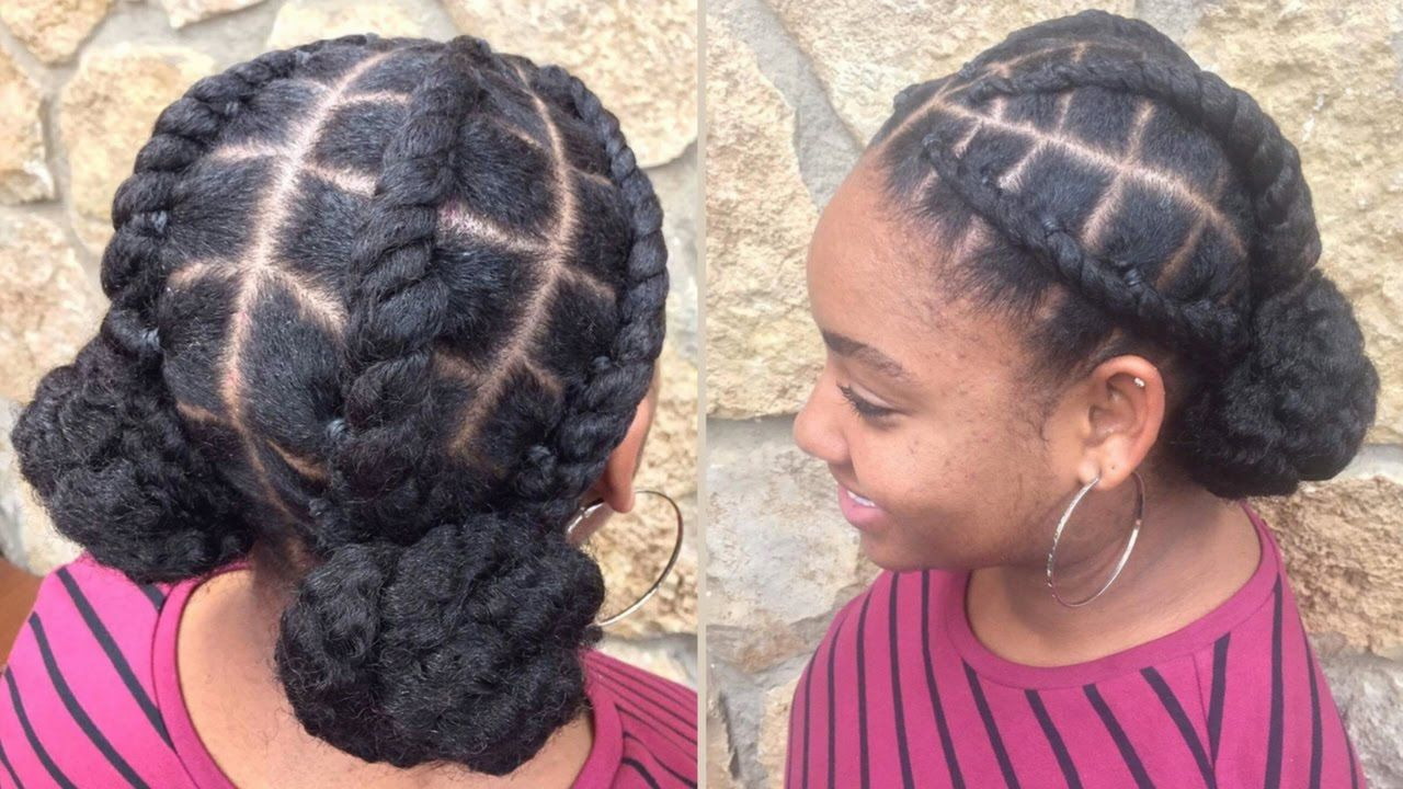 Edgy Space Buns Protective Styling 4c Natural Hair As Told By Her 4c Natural Hair Natural Hair Styles Hair Styles
