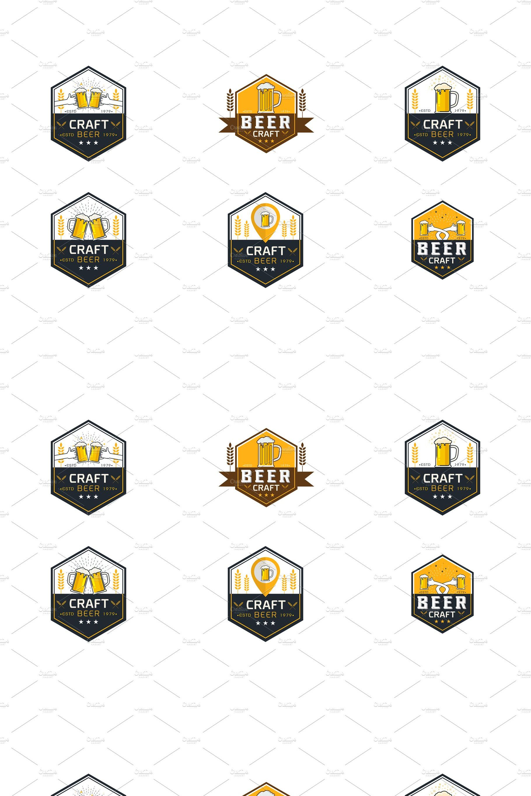 Craft Beer Logo Vector Illustration Craft Beer Illustration Crafts