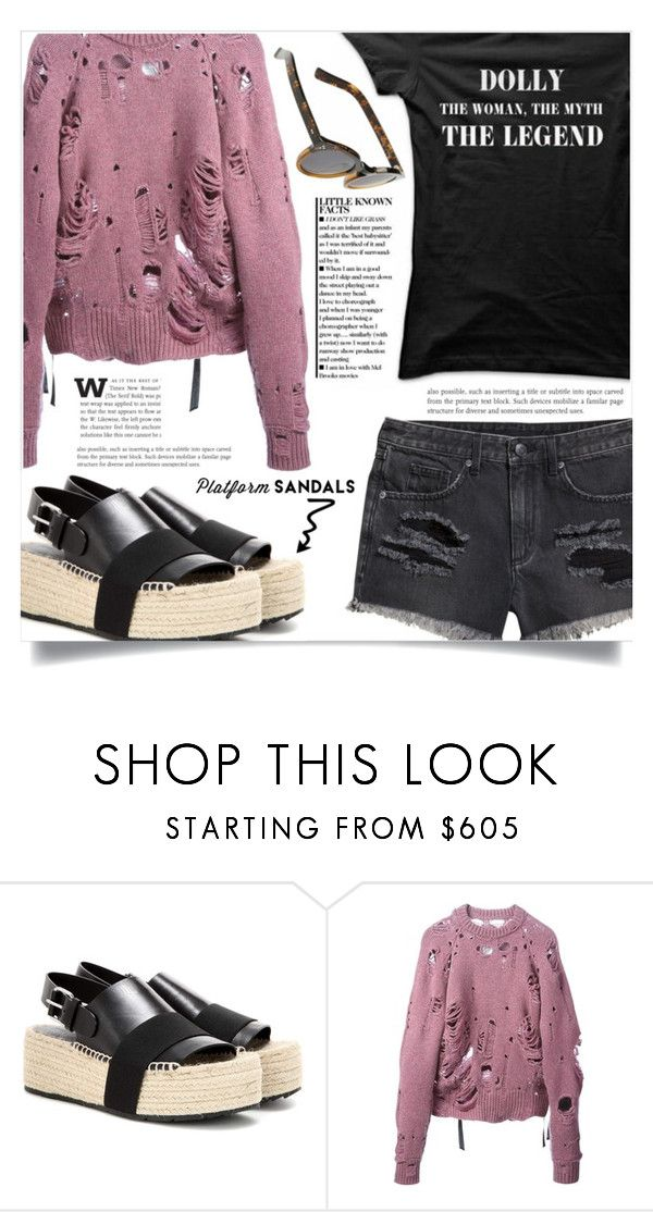 """""""Stand Up! Platform Sandals"""" by dolly-valkyrie ❤ liked on Polyvore featuring Balenciaga, Maison Margiela, H&M and platforms"""