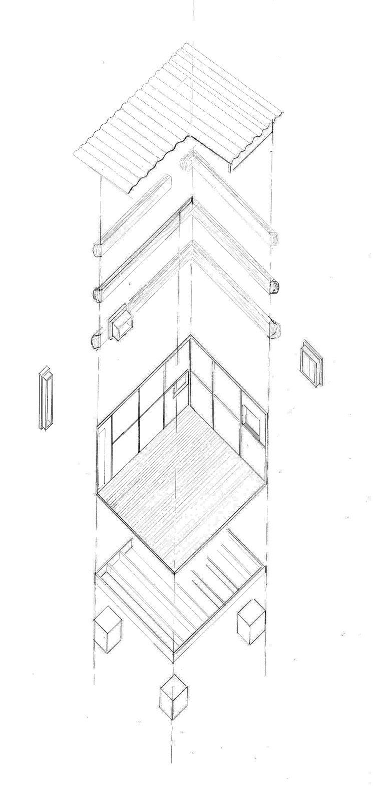 Petit Cabanon: Construction | Le Cabanon | Pinterest | Pine timber ... - Cabanon Le Corbusier