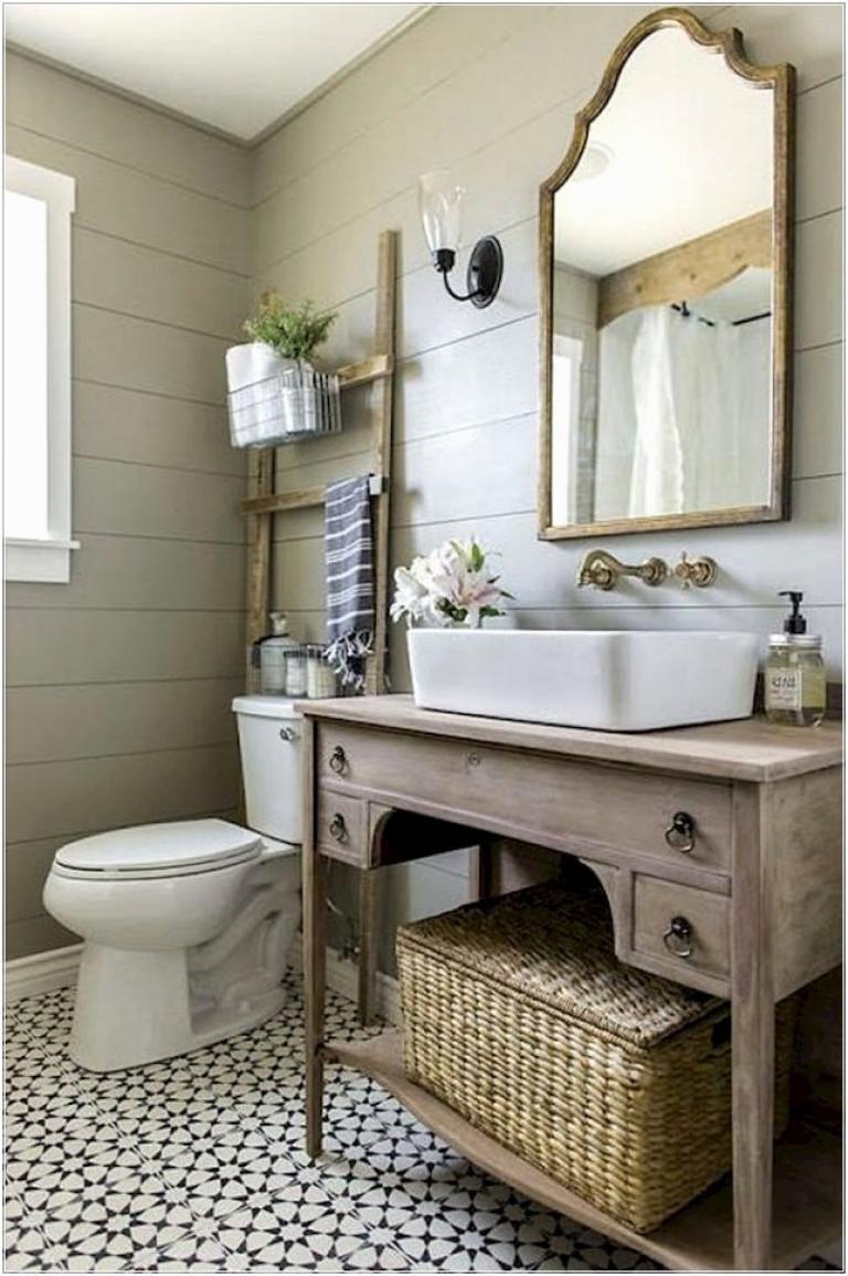 49 fabulous small farmhouse bathroom design ideas rustic on amazing small bathroom designs and ideas id=35448