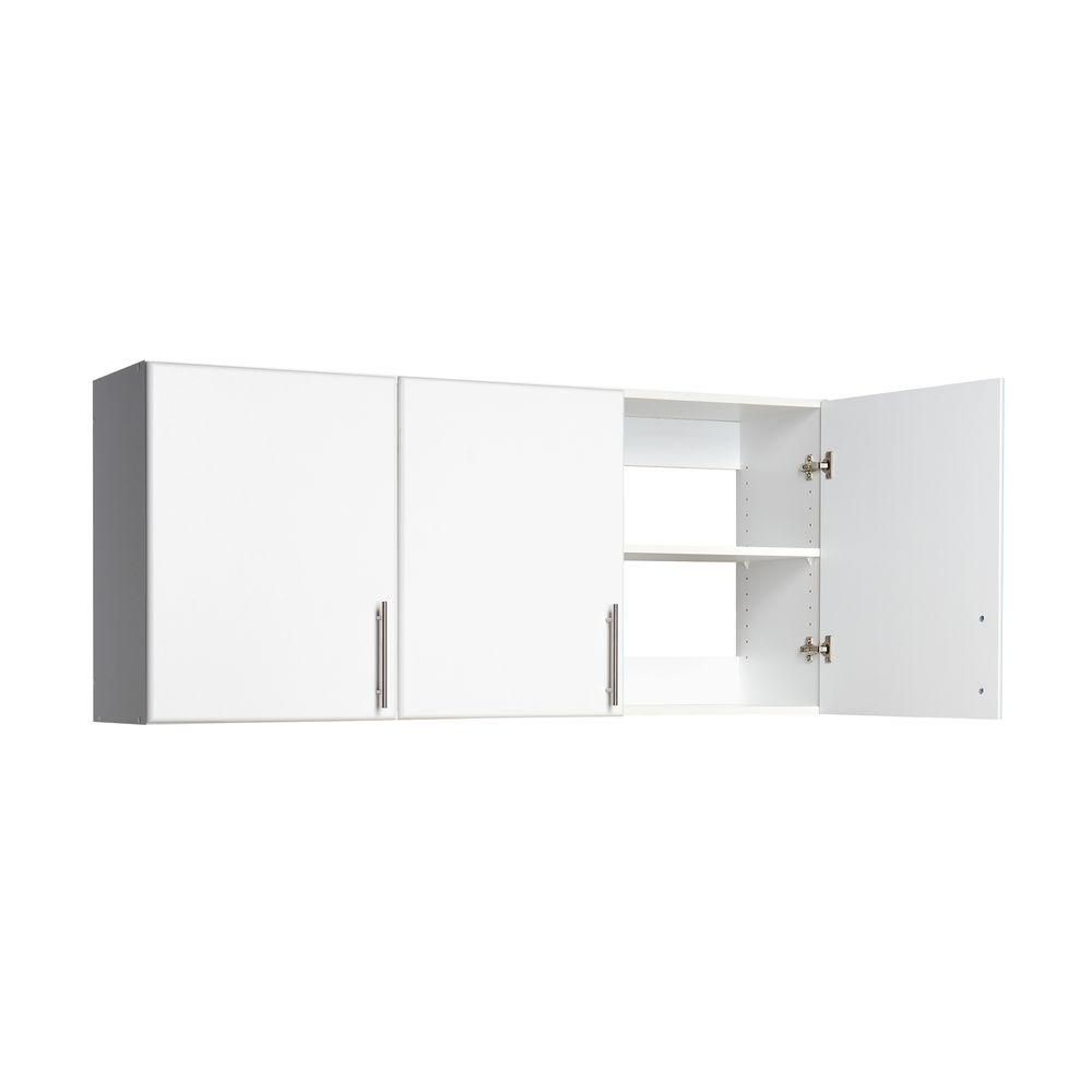 Prepac Elite 54 In 3 Door Wall Cabinet In White Wew 5424 Wall