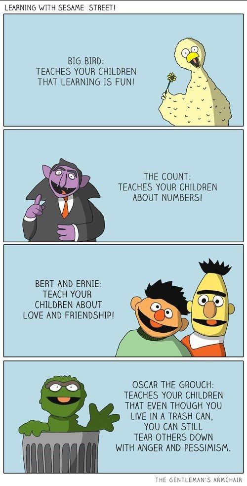 Oscar The Grouch Meme : oscar, grouch, Lesson, Worth, Learning, Sesame, Street, Memes,, Street,