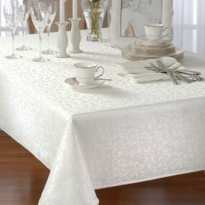 Marvelous Opal Innocence By Lenox Is An Elegant Scroll Damask. The Tablecloth.