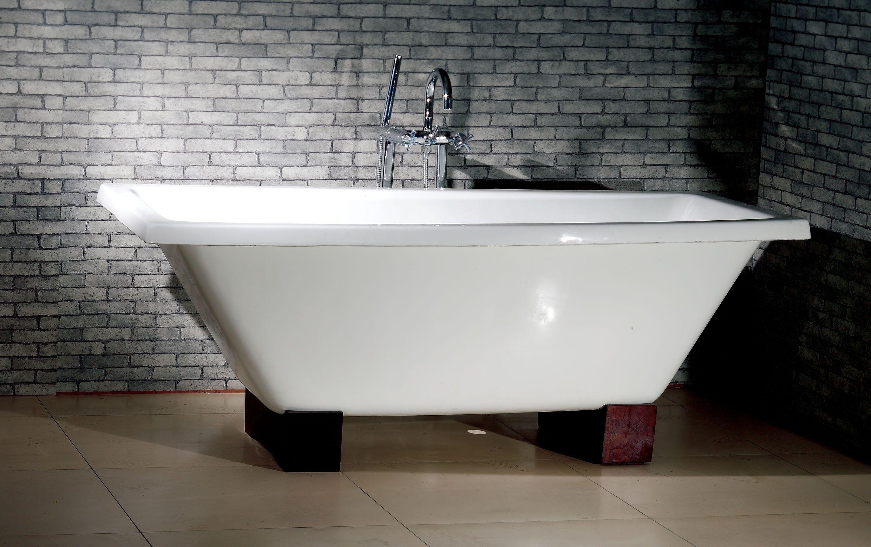 Nova 67 Inch Rectangular Dual Cast Iron Bathtub Cast Iron Tub