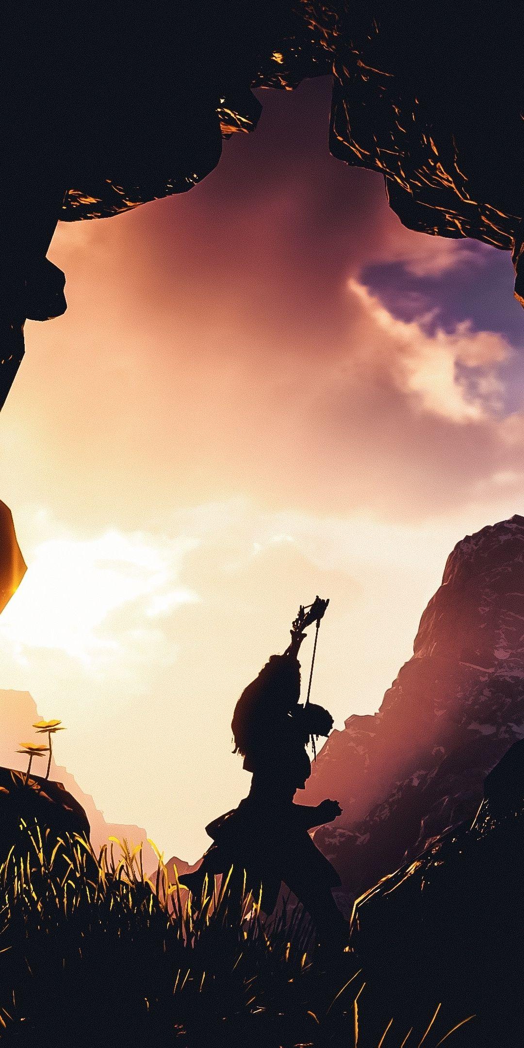 Archer Silhouette Aloy Game Horizon Zero Dawn 1080x2160 Wallpaper Horizon Zero Dawn Wallpaper Horizon Zero Dawn Horizon Zero Dawn Aloy