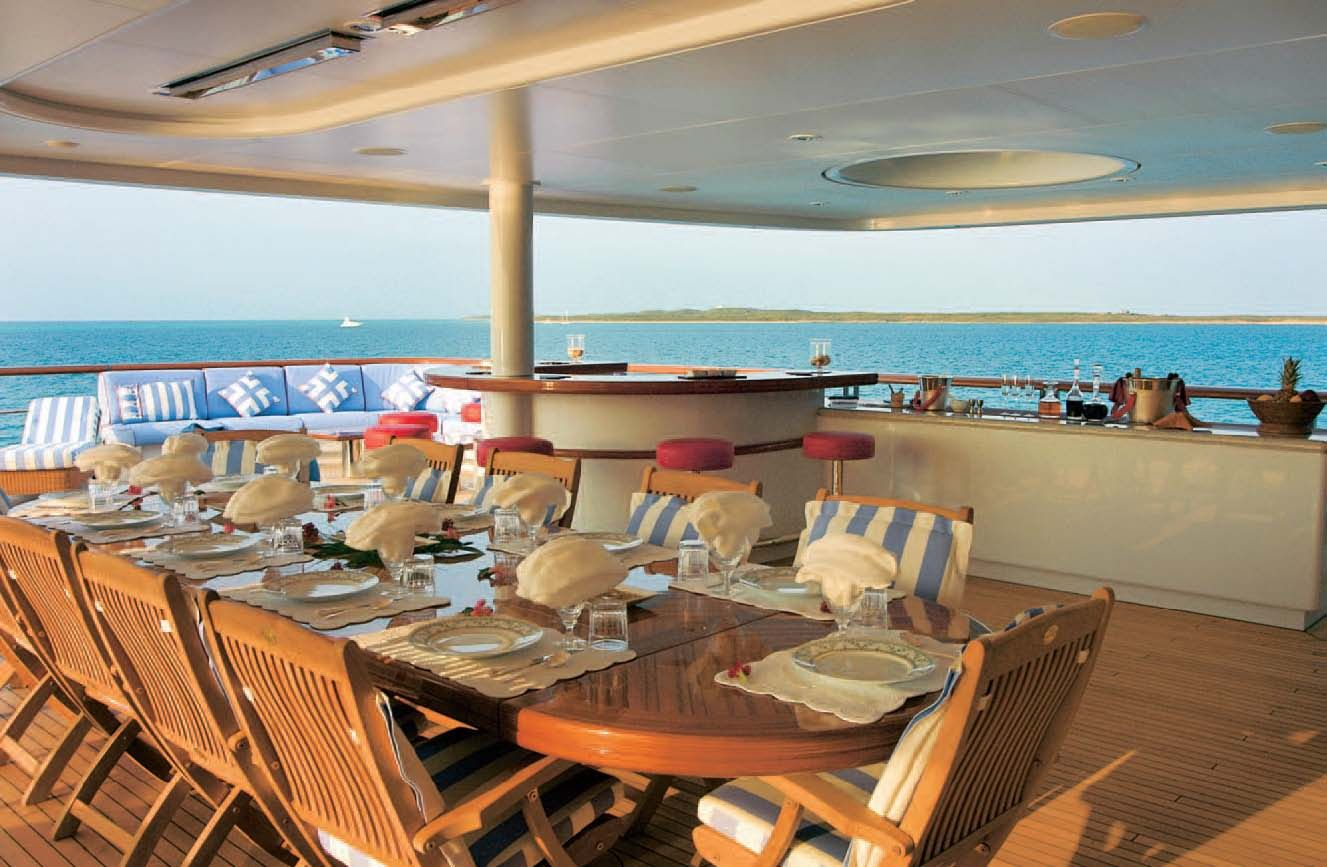 The Deck Of Greg Norman S Yacht Yacht Interior Yacht Luxury Yachts