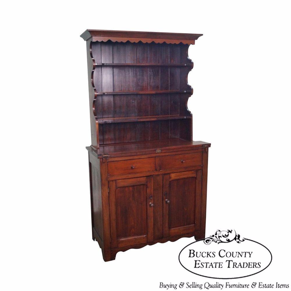 Antique 19th Century Open Hutch Dutch Cupboard RusticPrimitive Dining Room