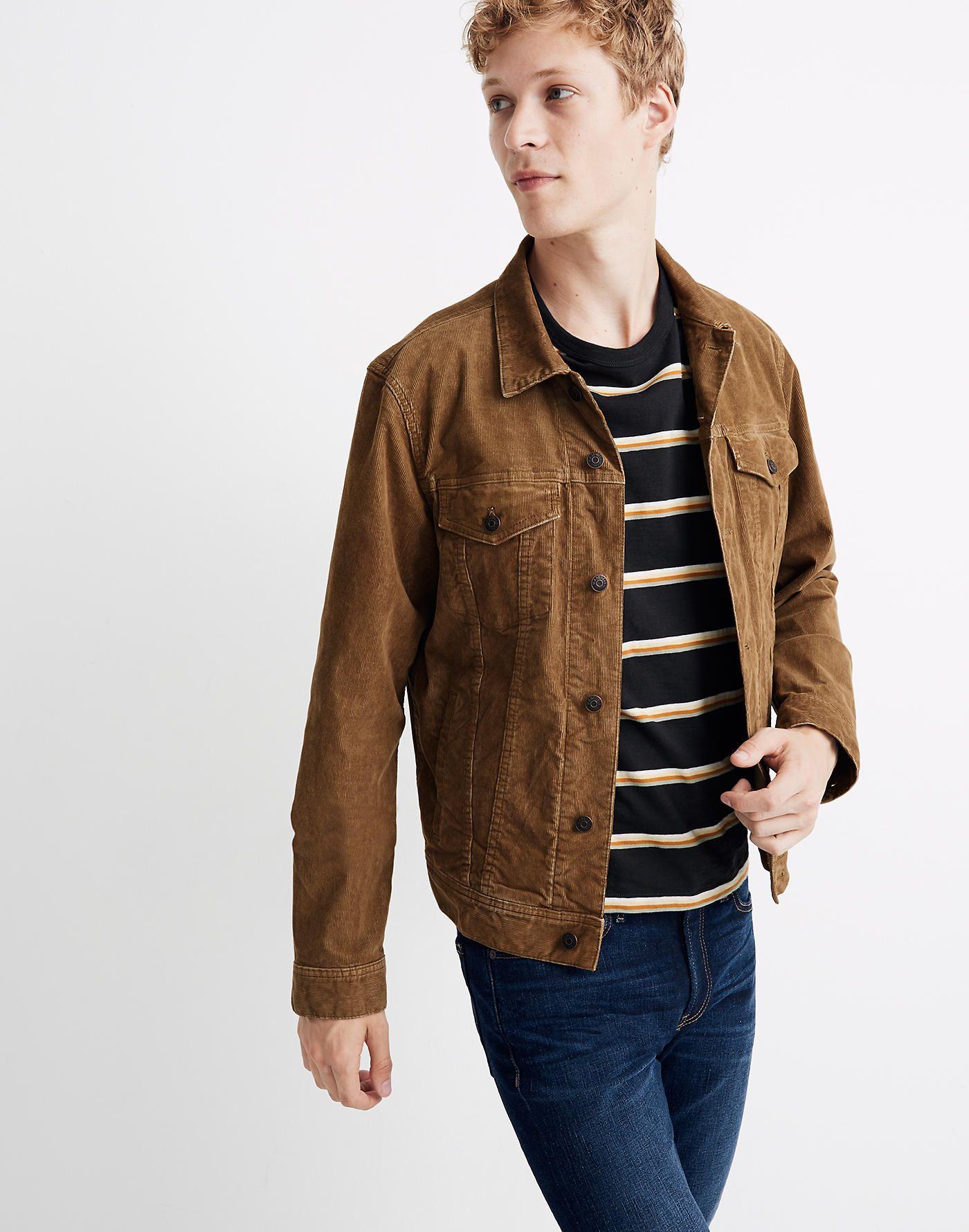Classic Jean Jacket Corduroy Edition Denim Jacket Men Classic Jeans Jean Jacket [ jpg ]