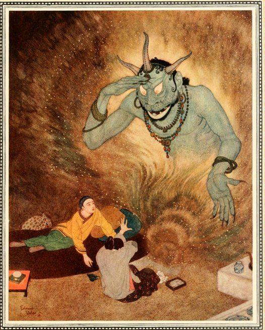 Edmund Dulac Djinn Genie Des Milles Et Une Nuits Edmund Dulac Sinbad The Sailor Fairytale Illustration