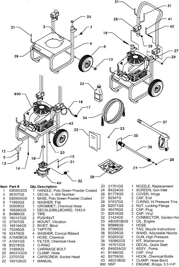 Sears Craftsman 580767202 Pressure Washer Replacement Parts Sears Craftsman Craftsman Replacement Parts