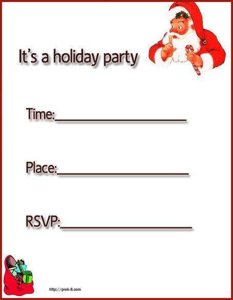 Free Printable Christmas Cards holiday party invitations, free