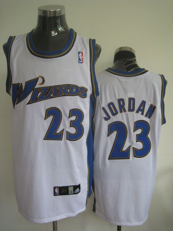 Wizards #23 Michael Jordan Embroidered White NBA Jersey! Only $20.50USD