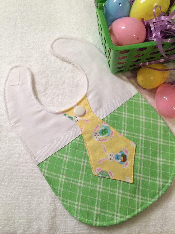 Easter Baby Boy Bibs - Bunny Baby Bibs - Cute Baby Bib by mymodernthread on Etsy