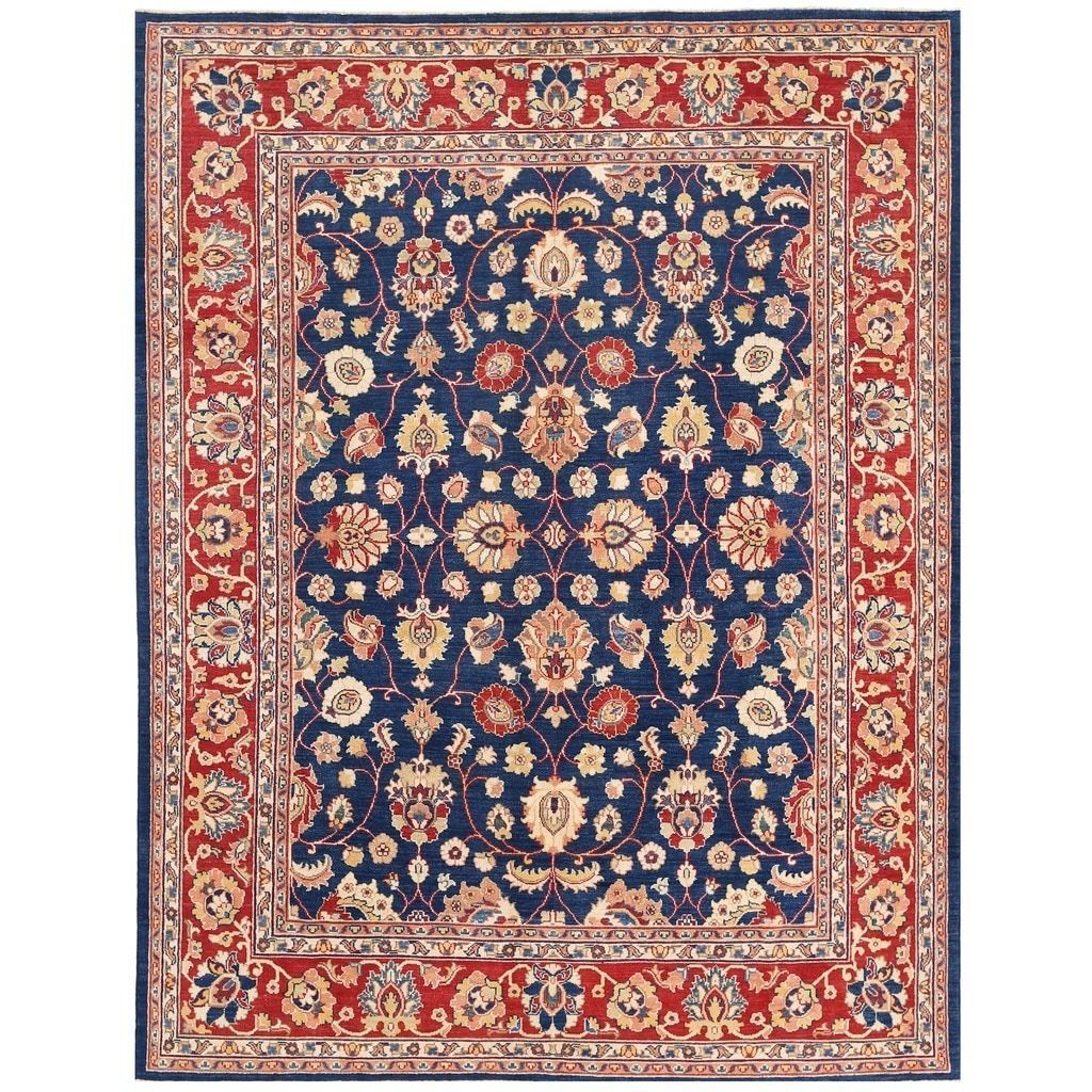 Herat Oriental Afghan Hand-knotted Vegetable Dye Oushak Rug
