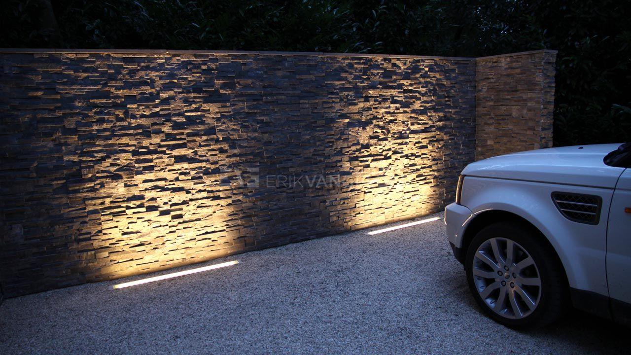Linear uplighting driveway شكل اللون الخارجي والسور pinterest