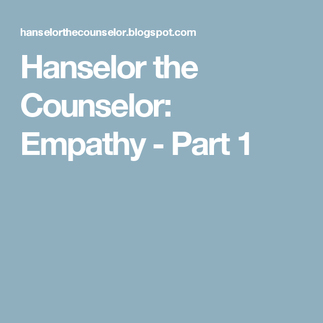 what is empathy in counselling