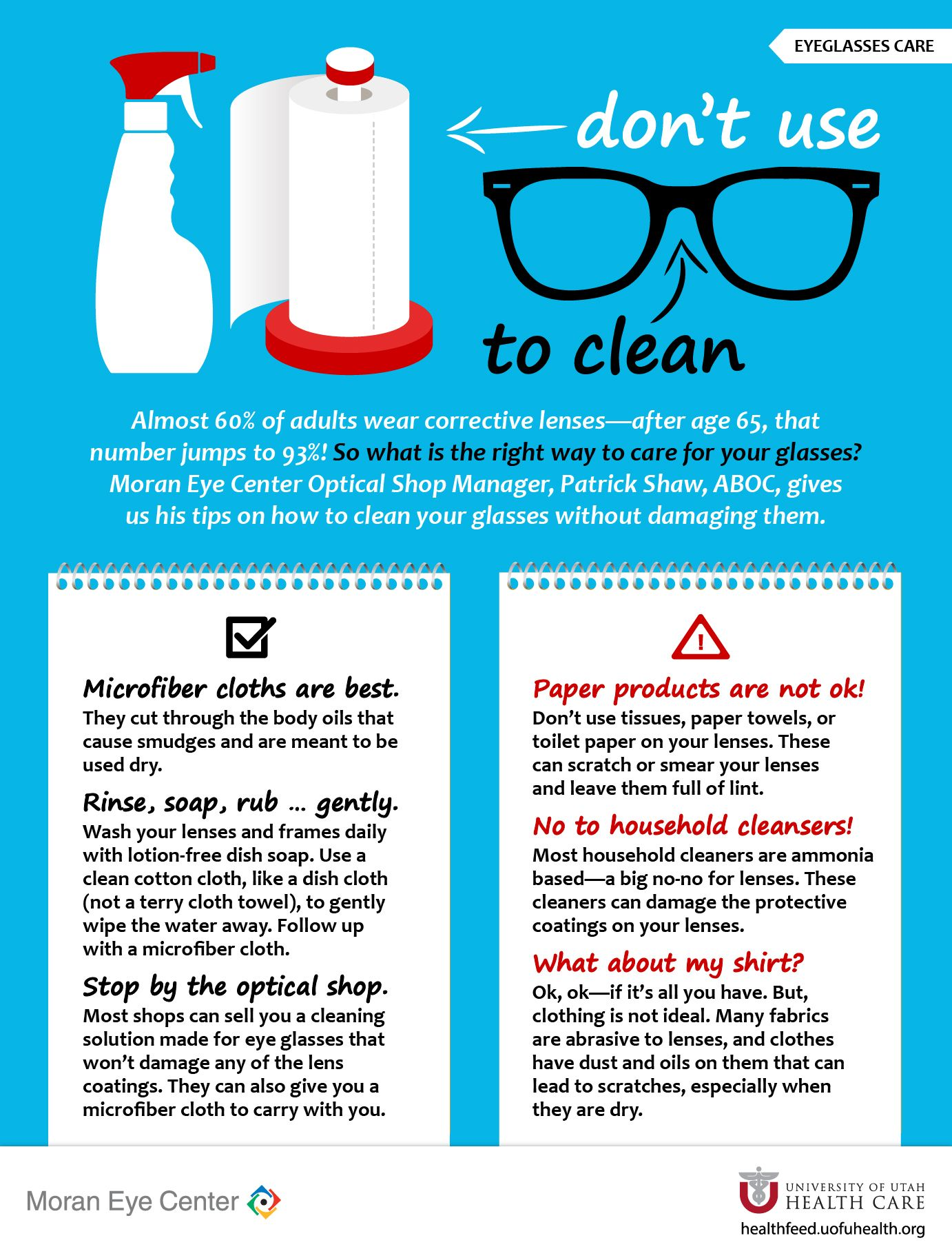 Take Care Of Your Glasses Optician Marketing Optical Shop Eye Health