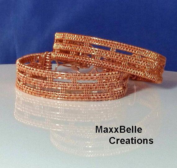 TUTORIAL - Colosseum Wire Weave Bracelet | Pinterest | Diy armband ...