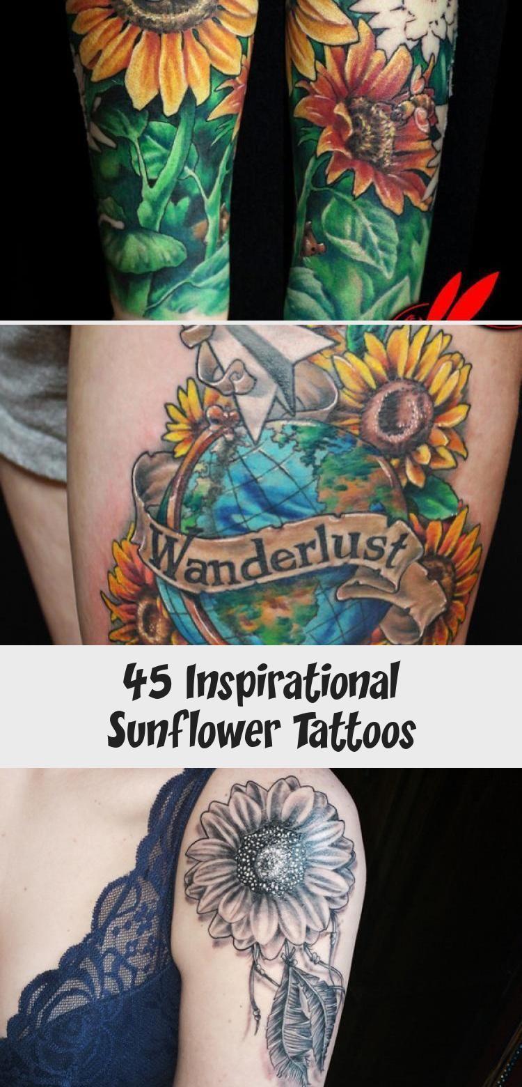 Photo of sunflower tattoo – 45 Inspirational Sunflower Tattoos #sunflowertattoosYouAreMyS…