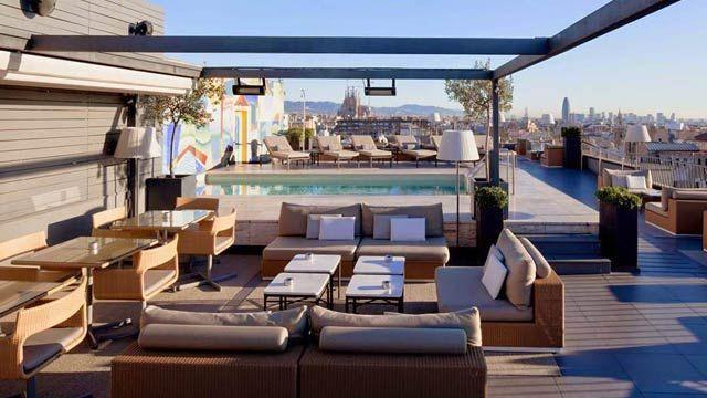 Rooftop Bar La Dolce Vita In Barcelona Majestic Hotel